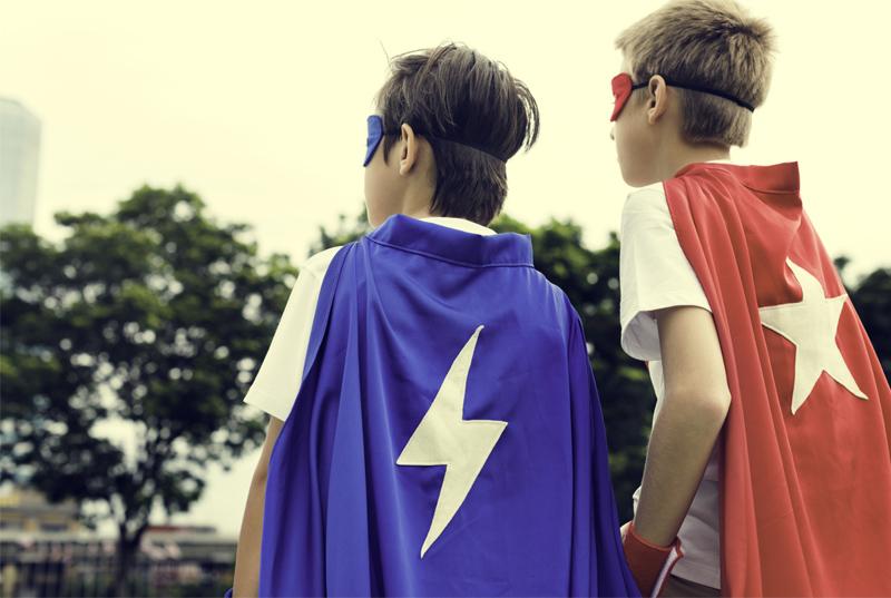 Männliche Superkräfte